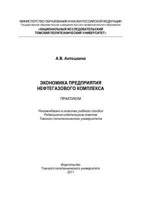 Антошкина А.В. Экономика предприятия нефтегазового комплекса. Практикум