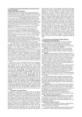 Ответы к ГОСу по лексикологии английского языка