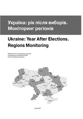 Когут І.О. (ред.) Україна: рік після виборів. Моніторинг регіонів