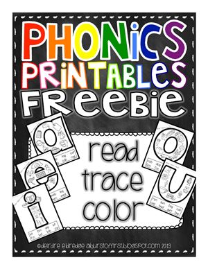 Eldredge Deidre. Phonics printables freebie. Read Trace Color