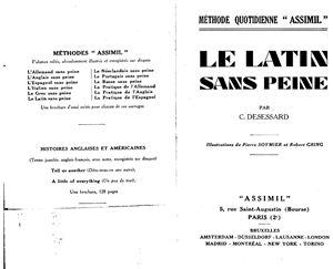 Desessard C. Le Latin Sans Peine. Assimil