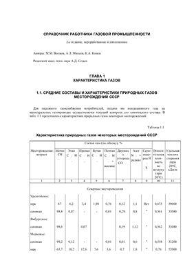 Волков М.М., Михеев А.Л., Конев К.А. Справочник работника газовой промышленности