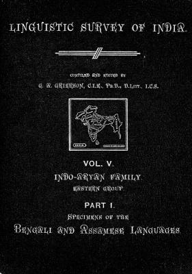 Grierson, George. Lingvistic survey of India, v.5 p.1
