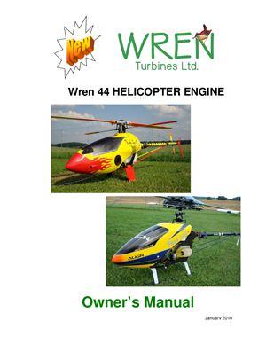 Wren turbines ltd. Wren 44 Helicopter engine