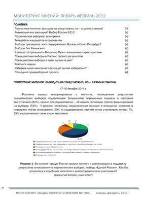 Мониторинг общественного мнения: экономические и социальные перемены 2012 №01 (107)