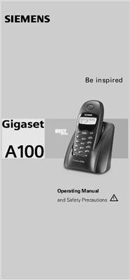 Siemens Gigaset A100. Инструкция по эксплуатации радиотелефон