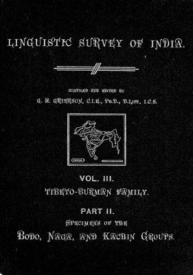 Grierson, George. Lingvistic survey of India, v.3 p.2