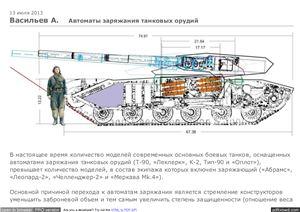Васильев А. Автоматы заряжания танковых орудий
