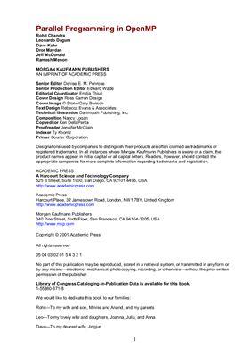 Chandra R. etc. Parallel Programming in OpenMP