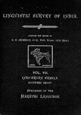 Grierson, George. Lingvistic survey of India, v.7