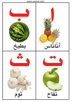 Арабский алфавит в картинках