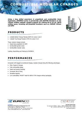 Модульный пороховой заряд - Combustible modular charges EURENCO