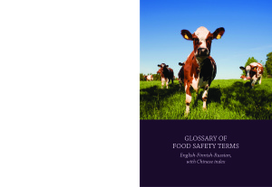 Kudashev I., Wang Bei. Glossary of Food Safety Terms (English-Finnish-Russian, with Chinese index)
