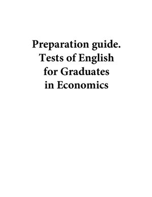 Preparation guide. Tests of English for Graduates in Economics