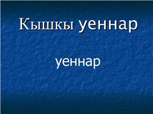 Презентация Кышкы уеннар (Зимние игры)