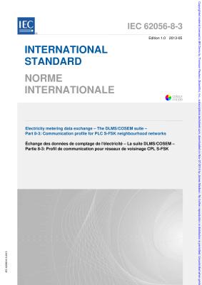 IEC 62056-8-3:2013 Communication profile for PLC S-FSK neighbourhood networks