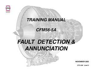 CFM56-5A Training manual. Fault detection & annunciation. CTC-238 Level 3