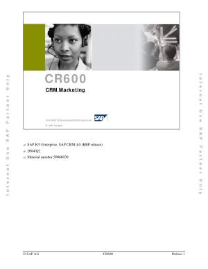 SAP. Учебный курс CR600 по SAP CRM