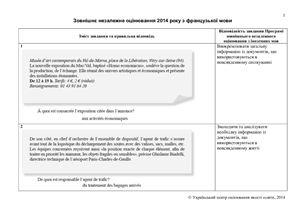 Відповіді ЗНО-2014 з французької мови