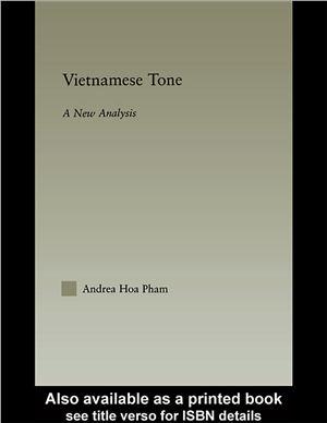 Hoa Pham A. Vietnamese Tone: A New Analysis