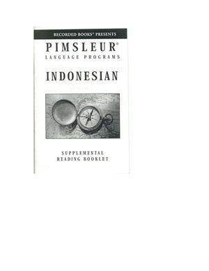 Paul Pimsleur. Аудиокурс для изучения индонезийского (начальный курс) / Pimsleur Indonesian Compact. Part 2