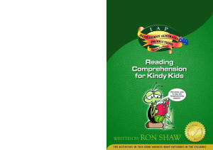 Shaw Ron. Reading Comprehension for Kindy Kids