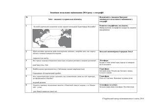 ЗНО 2014. Тест із географії. Відповіді