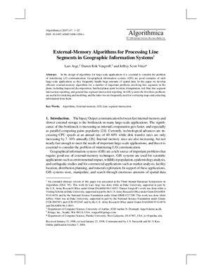 Algorithmica 2007 №47