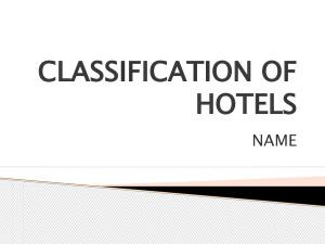 Hotel Classification