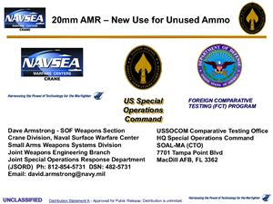 Armstrong Dave. 20mm AMR - new use for unused ammo