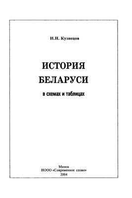 Кузнецов И.Н. История Беларуси в схемах и таблицах