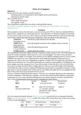 Методические указания - Parts of a Computer