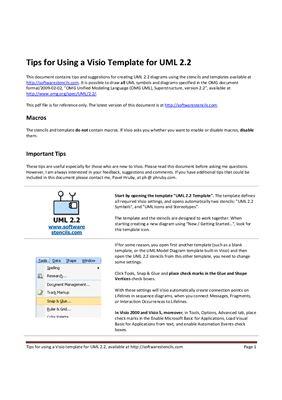 Шаблон UML версии 2.2 для MS Visio 2003, 2007 и 2010