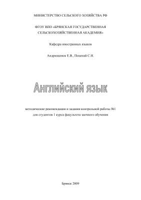 Андрющенок Е.В., Поцепай С.Н. Английский язык