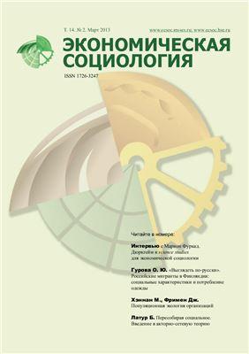 Экономическая социология 2013 №02