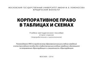 Шиткина И.С. Корпоративное право в таблицах и схемах