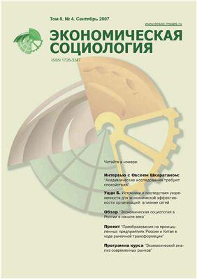 Экономическая социология 2007 №04