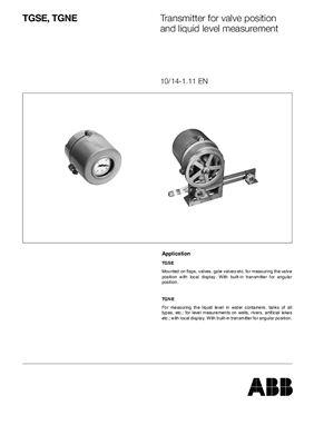 Каталог- Контрольно-измерительные приборы от ABBL. Датчики положения (англ.)
