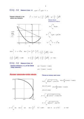 Индивидуальные задания по высшей математике. Глава 9. Определенный интеграл. Решены эадания ИДЗ-9.2, № 1.2; 2.2; 3.2; 4.2 в Word