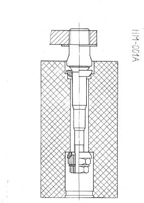 Конструкция крепления педали велосипеда тренировки модели HM-001A