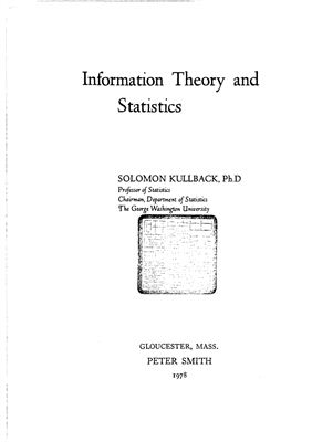 Kullback S. Information Theory and Statistics