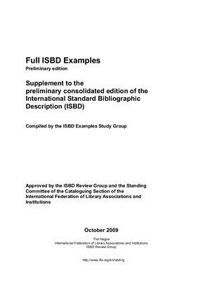 Методические указания - Автор неизвестен. Сборник примеров использования Международного стандартного библиографического описания (ISBD)