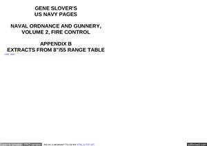 Выписка из таблиц стрельбы корабельных артиллерийских орудий 8 дюймов (203 мм) /55 клб (USA)