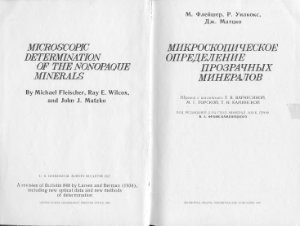 Флейшер М. Микроскопическое определение прозрачных минералов