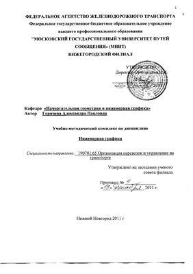 Горячева А.П. (сост.) Инженерная графика