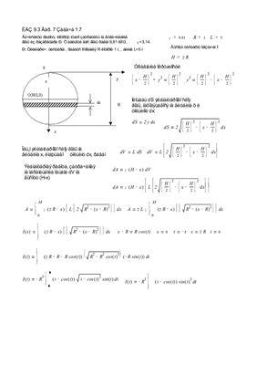 Параграф 9.4 Приложение определенного интеграла к решению задач физического содержания