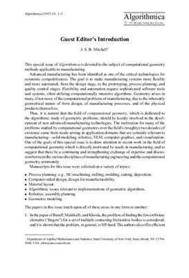 Algorithmica 1997 №19