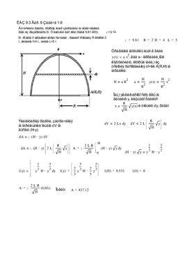 Параграф 9.4. Приложение определенного интеграла к решению задач физического содержания. Индивидуальные домашние задания. Решены задачи 6 варианта ИДЗ-9.3, № 1.6; 2.6; 3.6 в Word