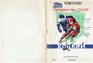 Мозолевский Е. Хоккей 1987/88. Вторая лига, 2-я зона. Маяк Куйбышев. Программа сезона