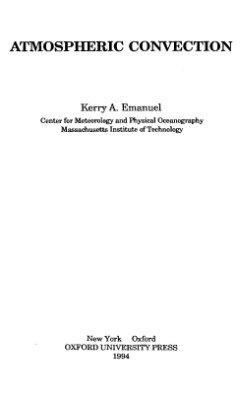Emanuel K., Atmospheric Convection